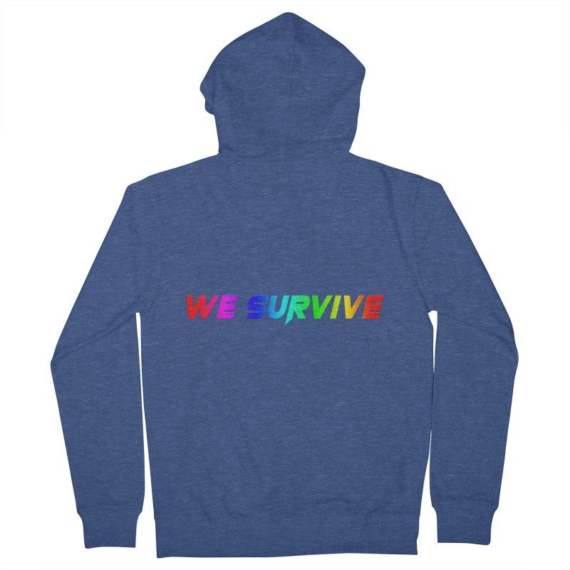 WE SURVIVE (LGBTQI PRIDE) Men's Zip-Up Hoody by VATTICA   OFFICIAL MERCH