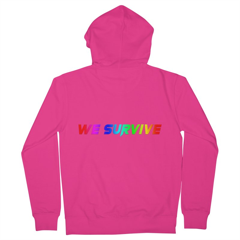 WE SURVIVE (LGBTQI PRIDE) Men's French Terry Zip-Up Hoody by VATTICA | OFFICIAL MERCH