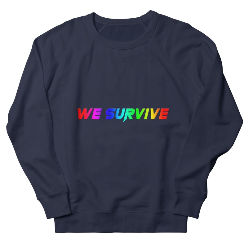 WE SURVIVE (LGBTQI PRIDE) Men's French Terry Sweatshirt by VATTICA | OFFICIAL MERCH