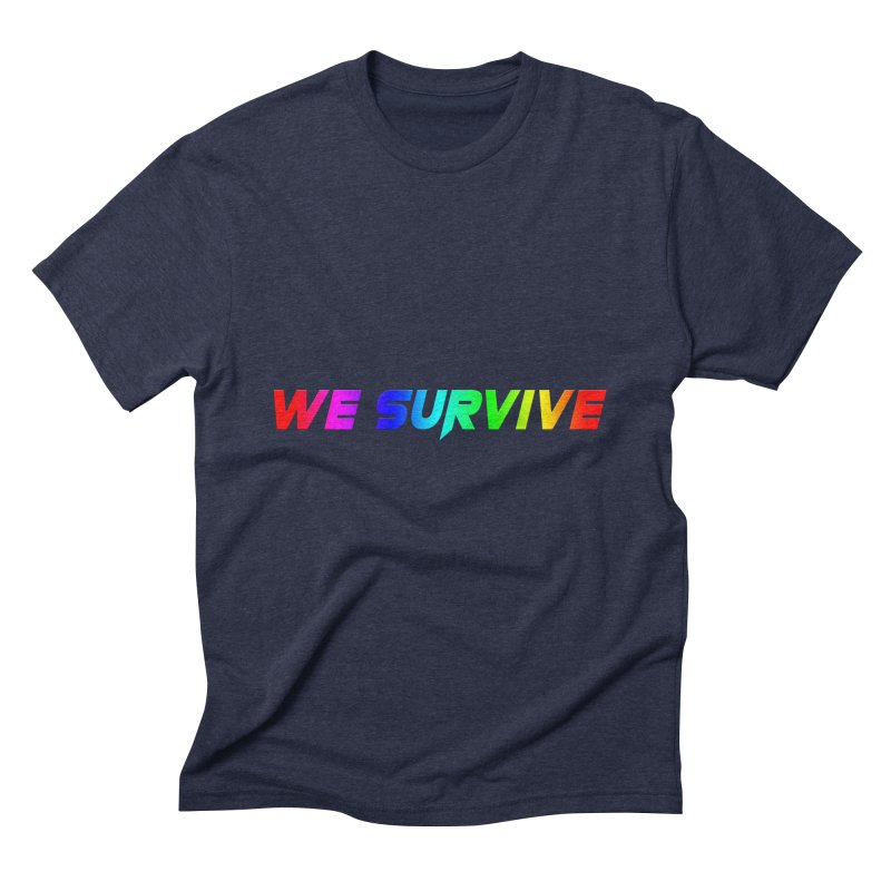 WE SURVIVE (LGBTQI PRIDE) Men's Triblend T-Shirt by VATTICA | OFFICIAL MERCH