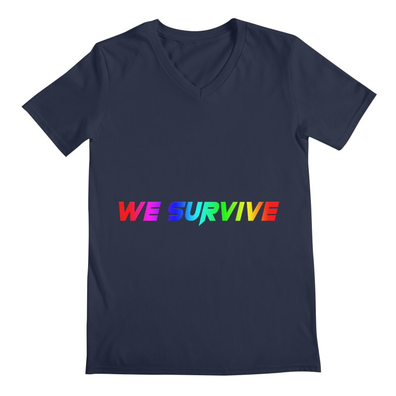 WE SURVIVE (LGBTQI PRIDE) Men's V-Neck by VATTICA | OFFICIAL MERCH