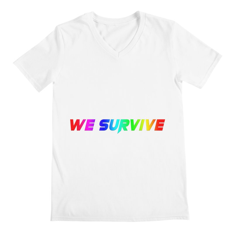 WE SURVIVE (LGBTQI PRIDE) Men's V-Neck by VATTICA | OFFICIAL MERCH