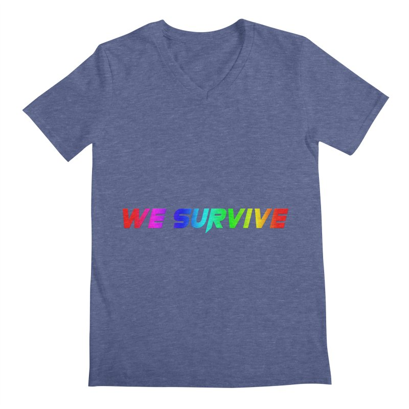 WE SURVIVE (LGBTQI PRIDE) Men's Regular V-Neck by VATTICA | OFFICIAL MERCH
