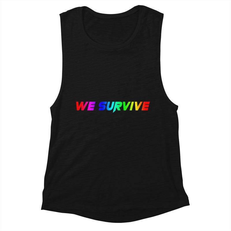WE SURVIVE (LGBTQI PRIDE) Women's Muscle Tank by VATTICA | OFFICIAL MERCH