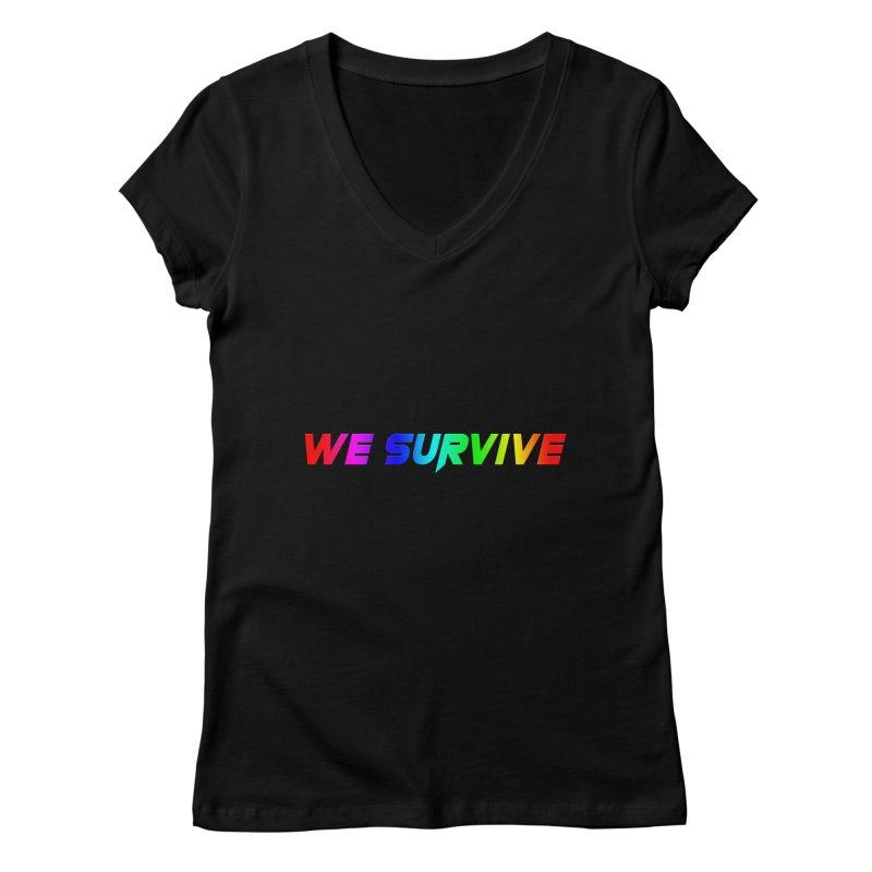 WE SURVIVE (LGBTQI PRIDE) Women's V-Neck by VATTICA | OFFICIAL MERCH