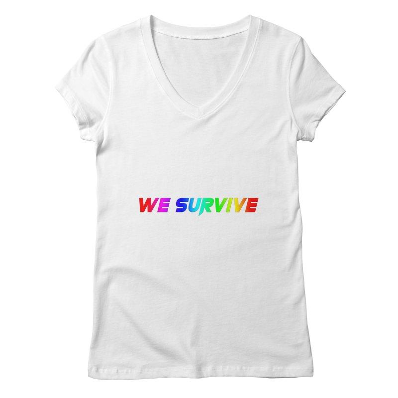 WE SURVIVE (LGBTQI PRIDE) Women's Regular V-Neck by VATTICA | OFFICIAL MERCH