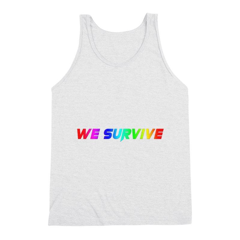 WE SURVIVE (LGBTQI PRIDE) Men's Triblend Tank by VATTICA | OFFICIAL MERCH