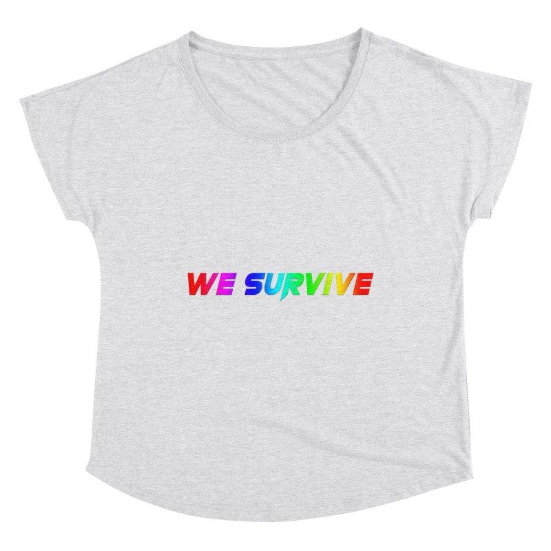 WE SURVIVE (LGBTQI PRIDE) Women's Scoop Neck by VATTICA   OFFICIAL MERCH