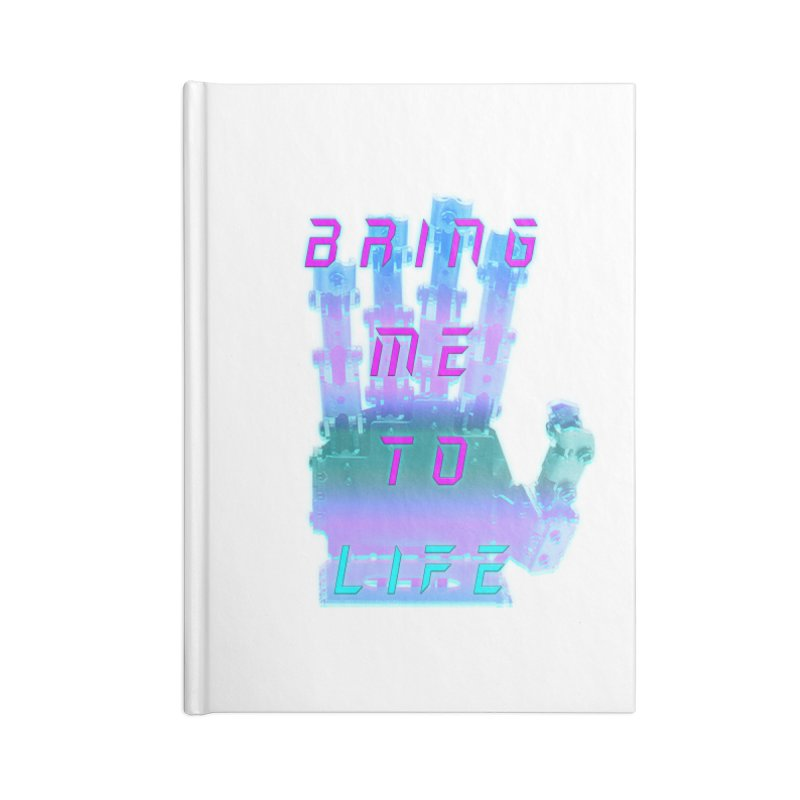 REMEMBER TO BREATHE (CYBORG) Accessories Blank Journal Notebook by VATTICA | OFFICIAL MERCH