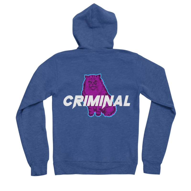 CRIMINAL (KITTY) Women's Zip-Up Hoody by VATTICA | OFFICIAL MERCH