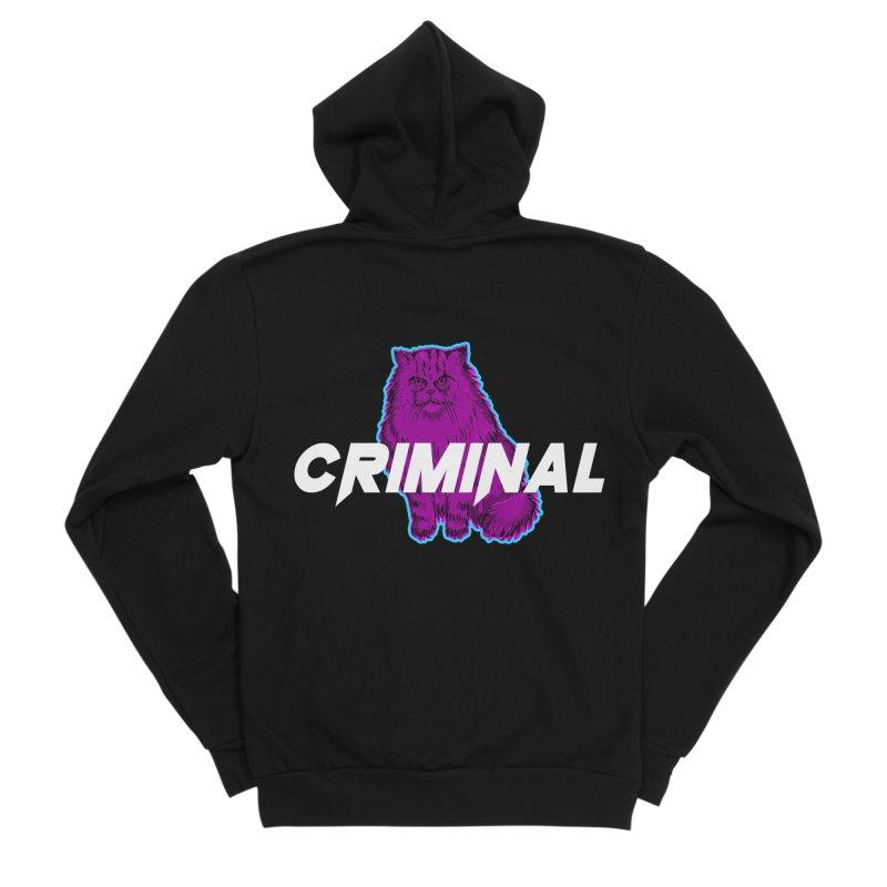 CRIMINAL (KITTY) Women's Sponge Fleece Zip-Up Hoody by VATTICA | OFFICIAL MERCH