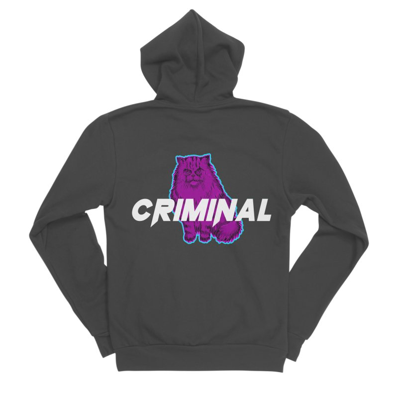 CRIMINAL (KITTY) Men's Sponge Fleece Zip-Up Hoody by VATTICA | OFFICIAL MERCH