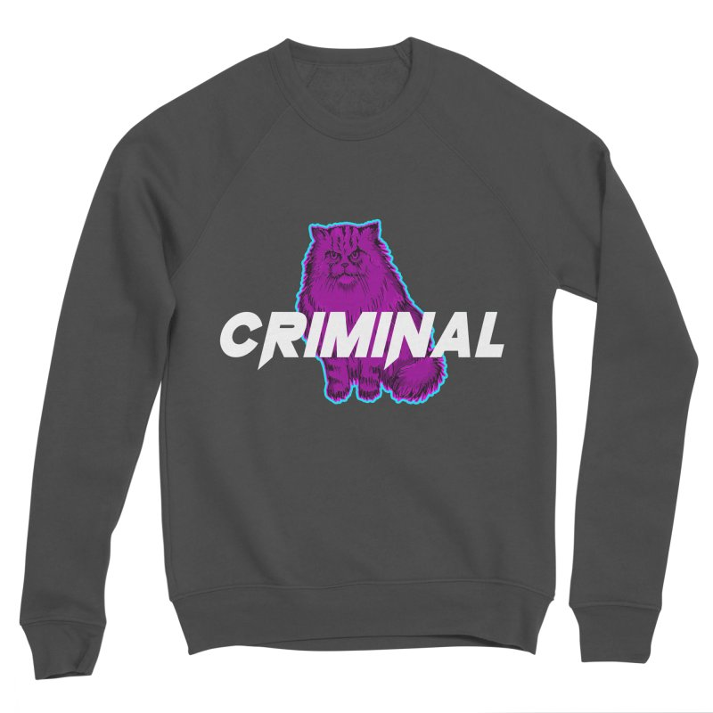 CRIMINAL (KITTY) Men's Sponge Fleece Sweatshirt by VATTICA | OFFICIAL MERCH