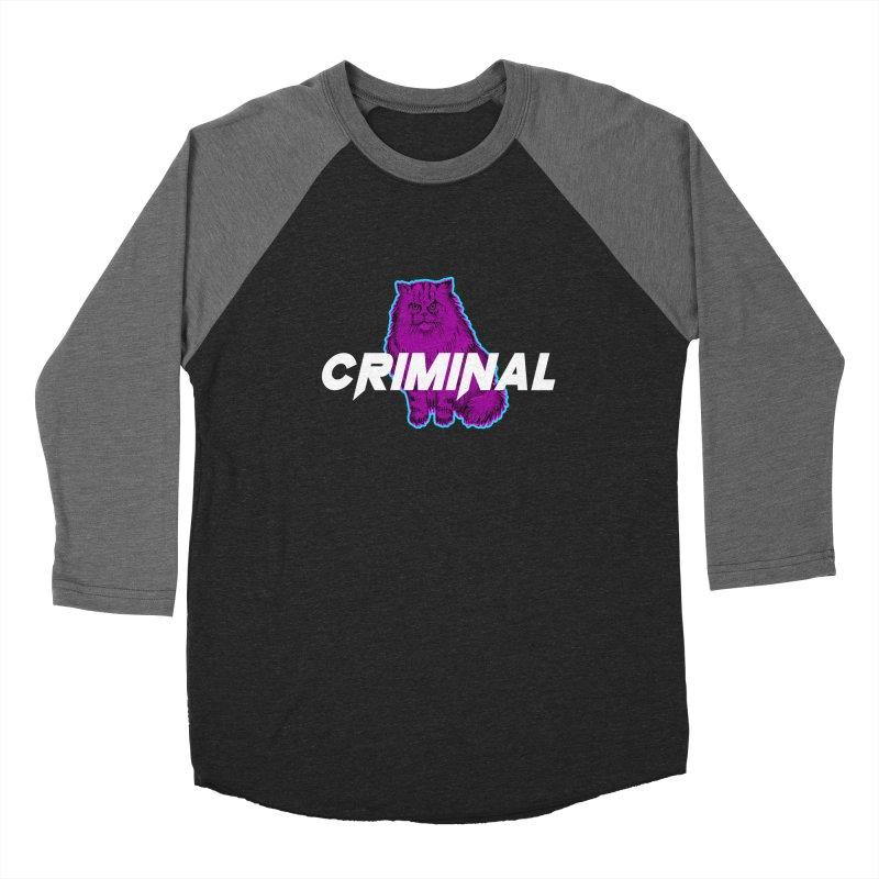 CRIMINAL (KITTY) Women's Baseball Triblend Longsleeve T-Shirt by VATTICA | OFFICIAL MERCH