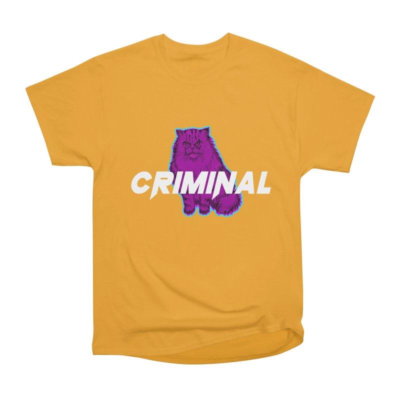 CRIMINAL (KITTY) Men's Heavyweight T-Shirt by VATTICA   OFFICIAL MERCH