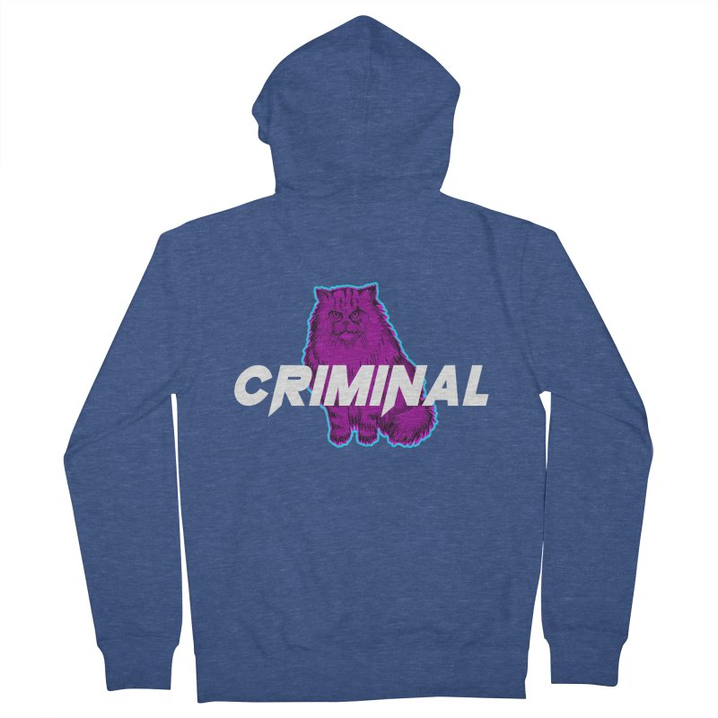 CRIMINAL (KITTY) Women's French Terry Zip-Up Hoody by VATTICA | OFFICIAL MERCH