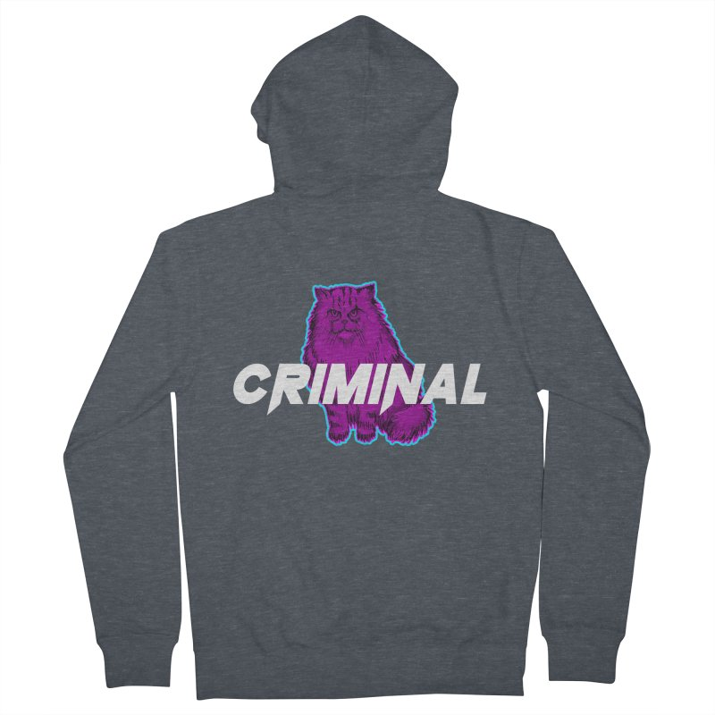 CRIMINAL (KITTY) Men's French Terry Zip-Up Hoody by VATTICA | OFFICIAL MERCH