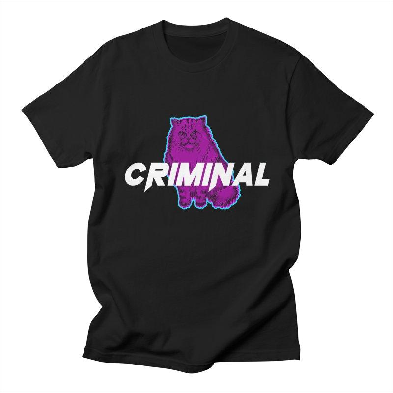 CRIMINAL (KITTY) Men's T-Shirt by VATTICA   OFFICIAL MERCH