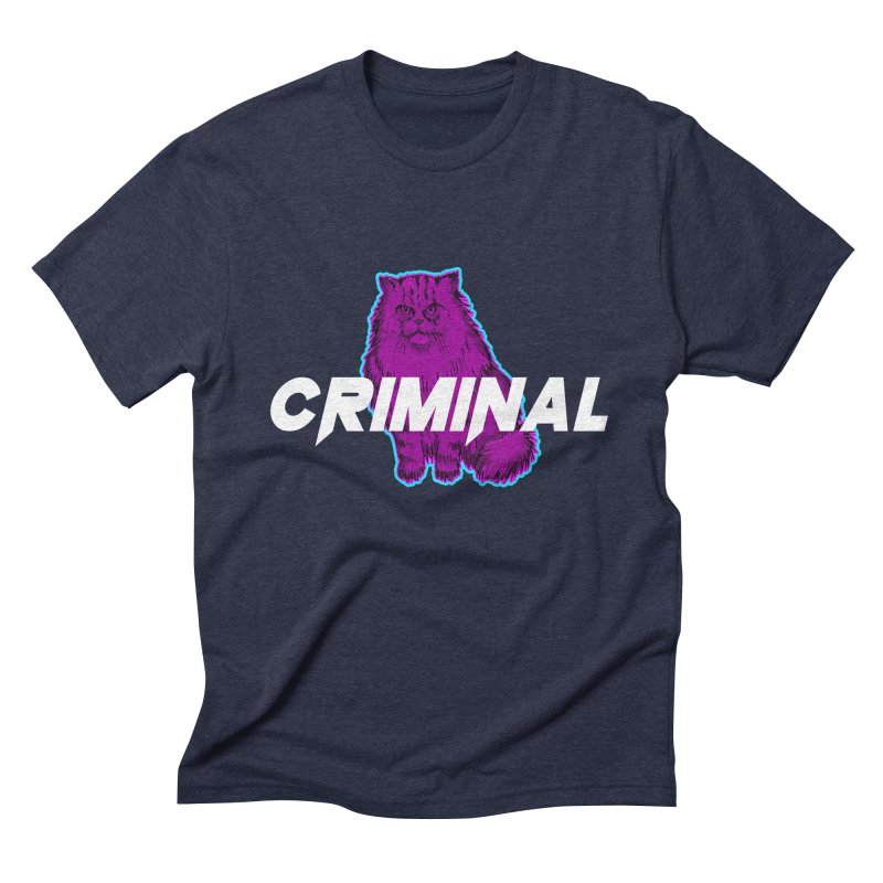 CRIMINAL (KITTY) Men's Triblend T-Shirt by VATTICA | OFFICIAL MERCH
