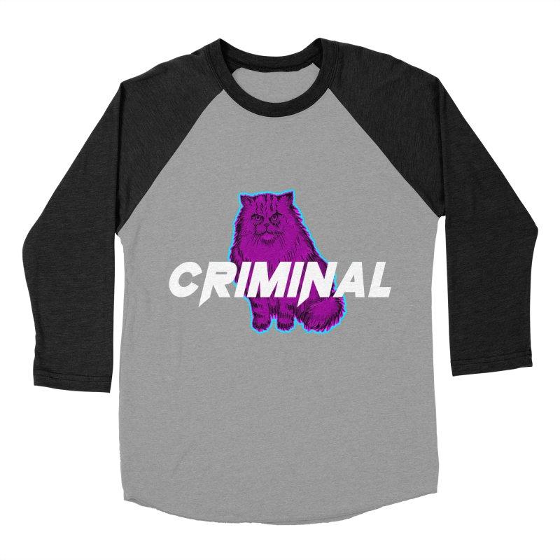 CRIMINAL (KITTY) Women's Baseball Triblend Longsleeve T-Shirt by VATTICA   OFFICIAL MERCH