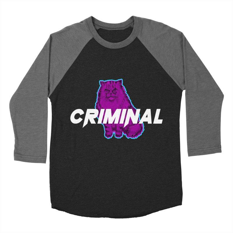 CRIMINAL (KITTY) Men's Baseball Triblend Longsleeve T-Shirt by VATTICA | OFFICIAL MERCH
