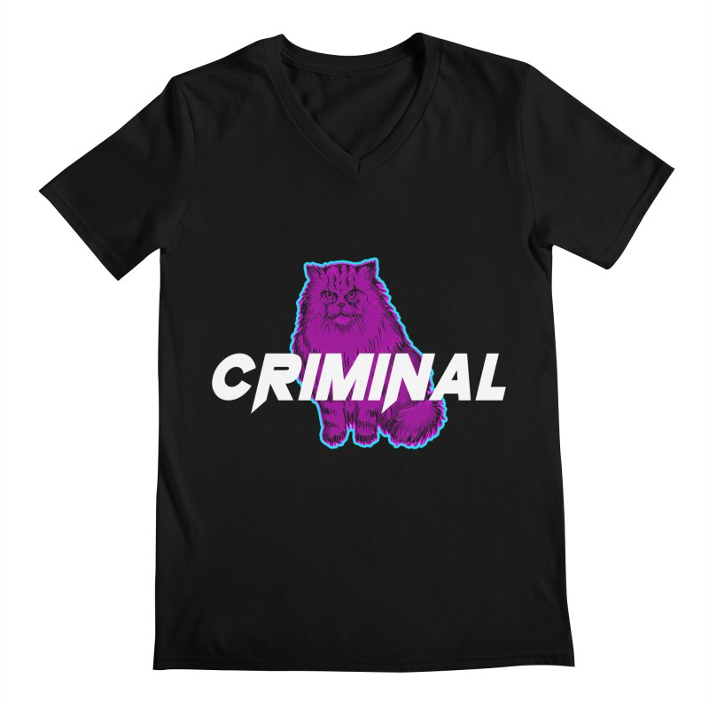 CRIMINAL (KITTY) Men's V-Neck by VATTICA | OFFICIAL MERCH
