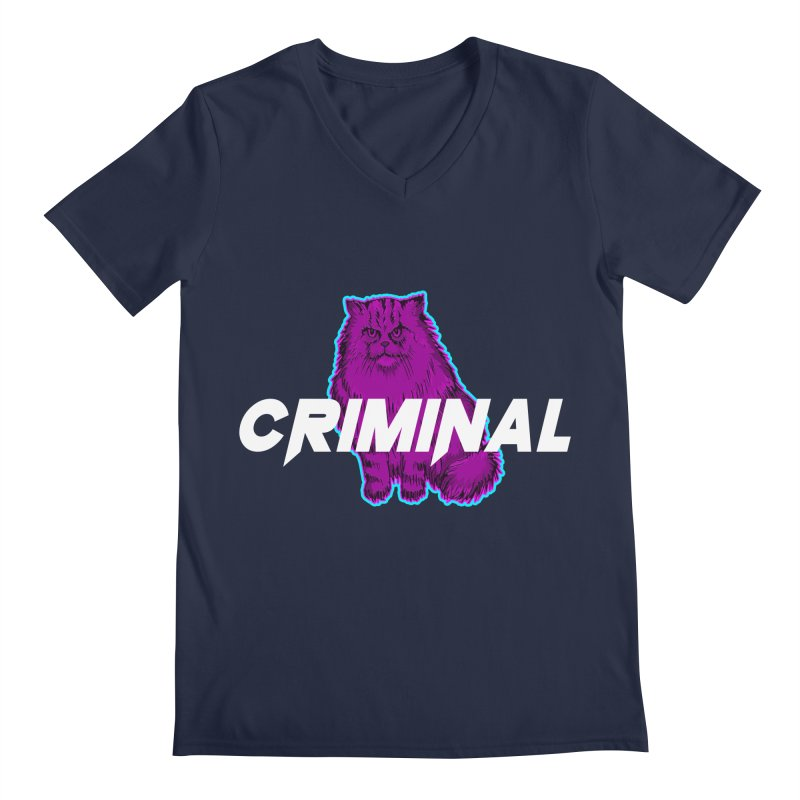 CRIMINAL (KITTY) Men's V-Neck by VATTICA | OFFICIAL MERCH