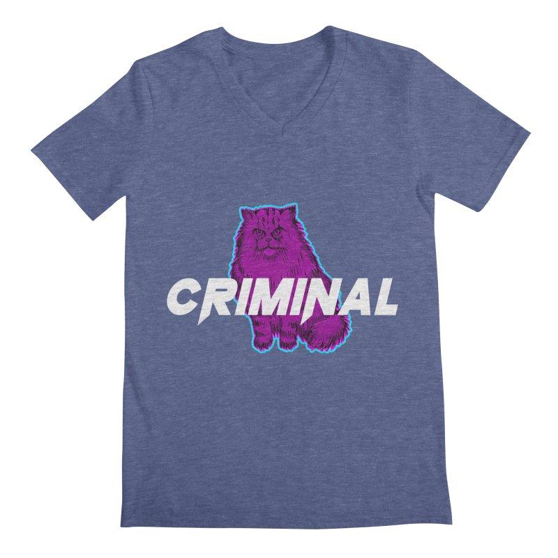 CRIMINAL (KITTY) Men's V-Neck by VATTICA   OFFICIAL MERCH