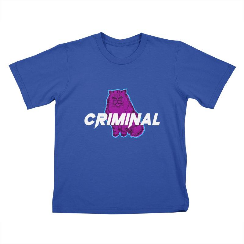 CRIMINAL (KITTY) Kids T-Shirt by VATTICA | OFFICIAL MERCH