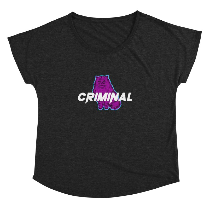 CRIMINAL (KITTY) Women's Scoop Neck by VATTICA | OFFICIAL MERCH