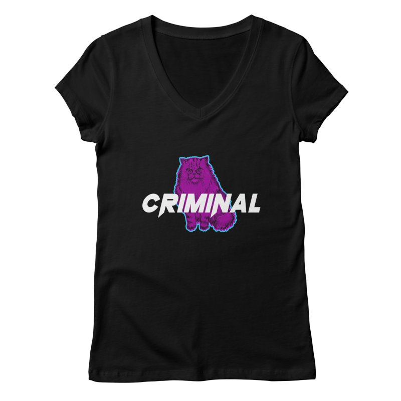 CRIMINAL (KITTY) Women's V-Neck by VATTICA | OFFICIAL MERCH