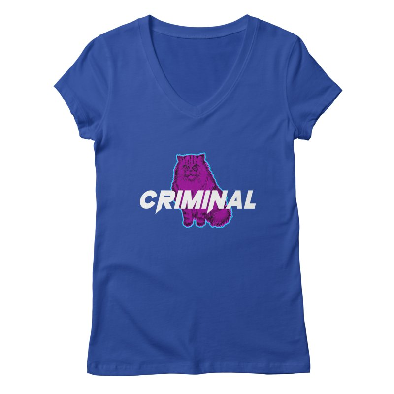 CRIMINAL (KITTY) Women's Regular V-Neck by VATTICA | OFFICIAL MERCH