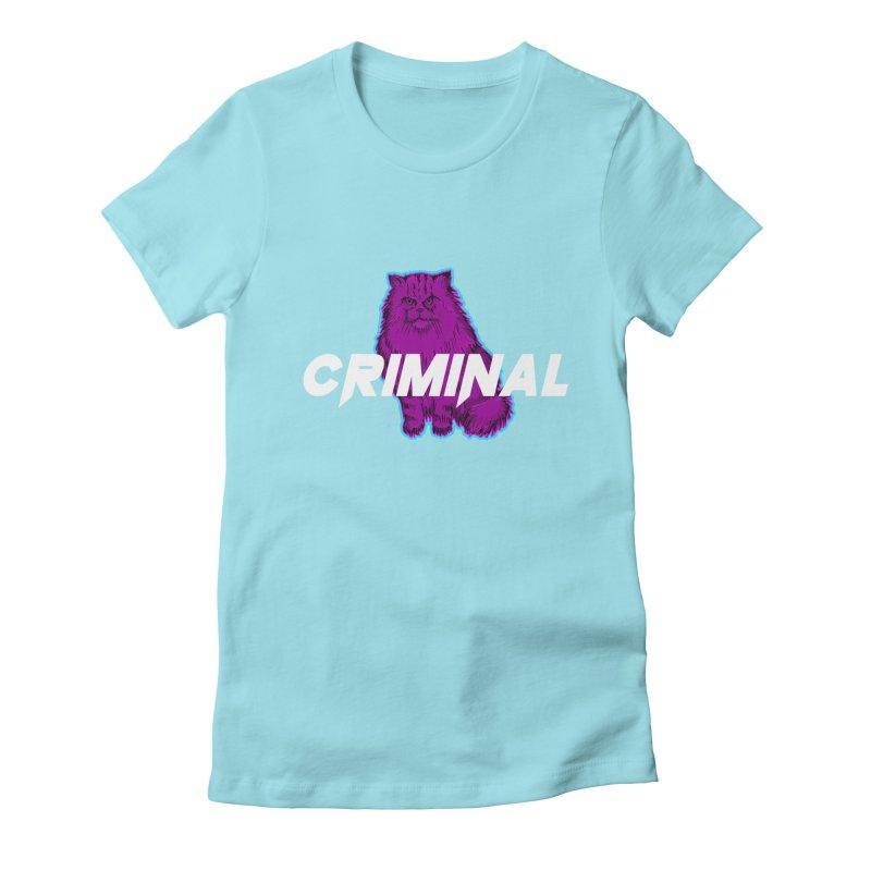CRIMINAL (KITTY) Women's Fitted T-Shirt by VATTICA | OFFICIAL MERCH