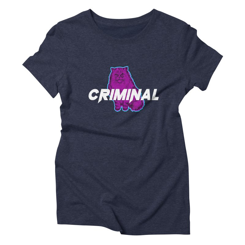 CRIMINAL (KITTY) Women's Triblend T-Shirt by VATTICA | OFFICIAL MERCH