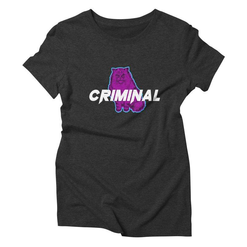 CRIMINAL (KITTY) Women's Triblend T-Shirt by VATTICA | OFFICIAL MERCH