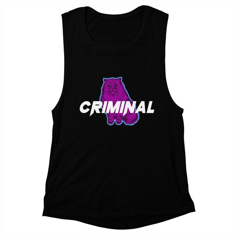 CRIMINAL (KITTY) Women's Muscle Tank by VATTICA | OFFICIAL MERCH