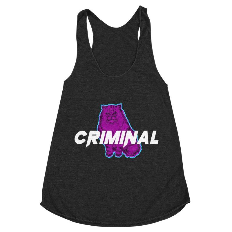 CRIMINAL (KITTY) Women's Racerback Triblend Tank by VATTICA | OFFICIAL MERCH