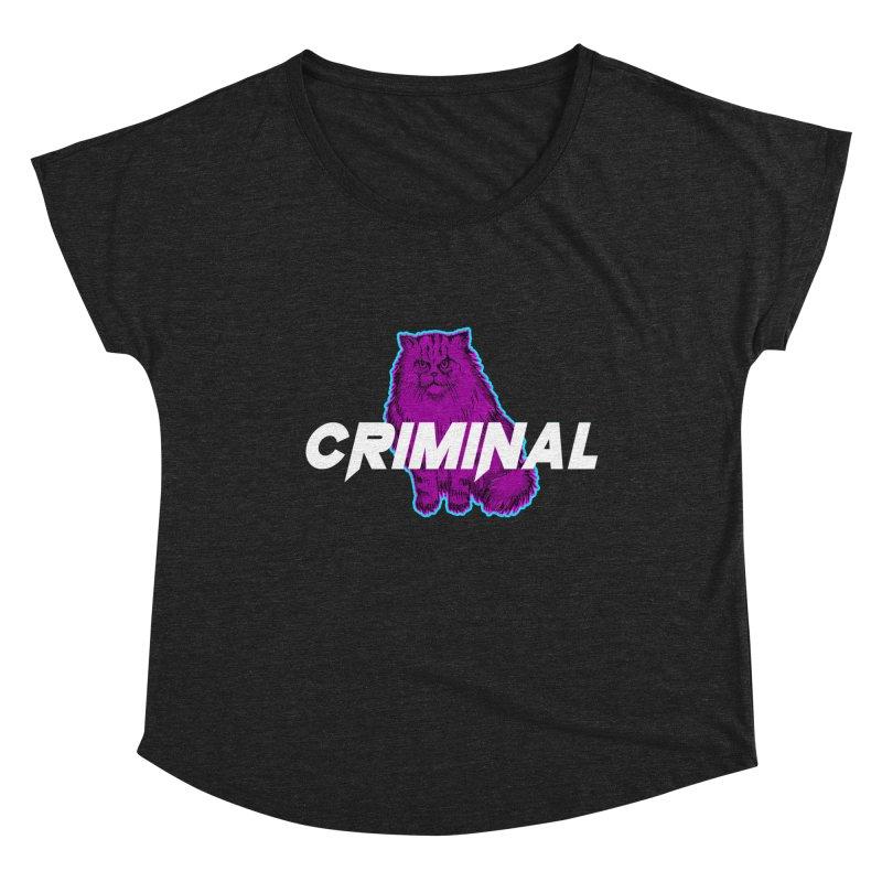 CRIMINAL (KITTY) Women's Scoop Neck by VATTICA | OFFICIAL MERCH