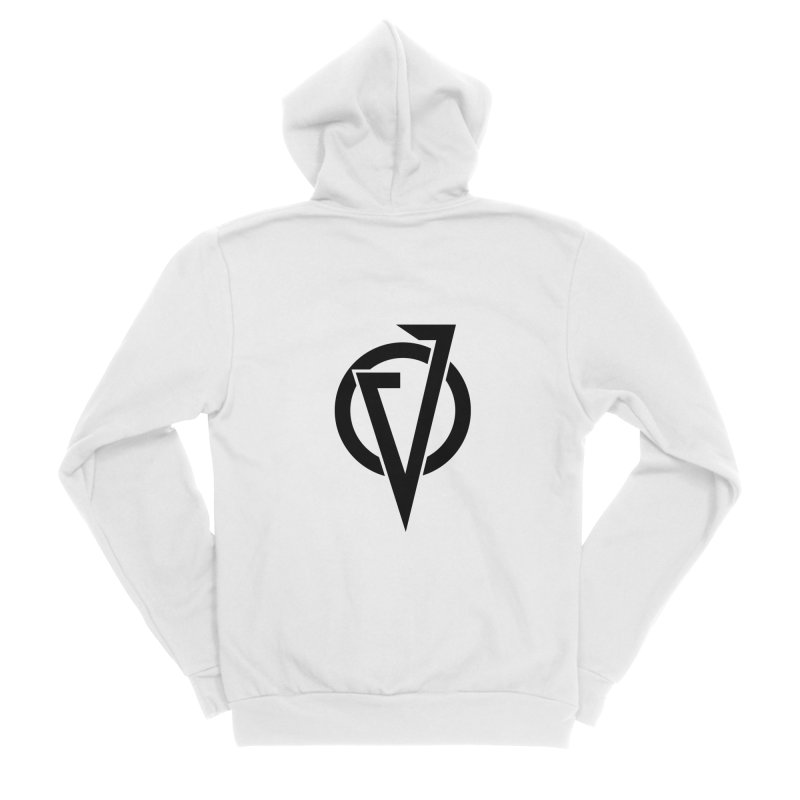 VATTICA LOGO (BLACK V) Men's Zip-Up Hoody by VATTICA | OFFICIAL MERCH