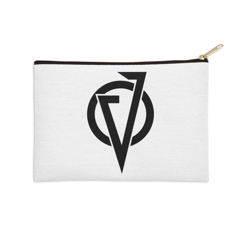 VATTICA LOGO (BLACK V) Accessories Zip Pouch by VATTICA | OFFICIAL MERCH