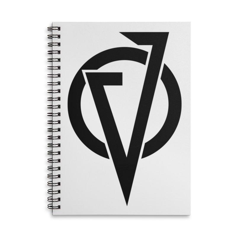 VATTICA LOGO (BLACK V) Accessories Lined Spiral Notebook by VATTICA | OFFICIAL MERCH