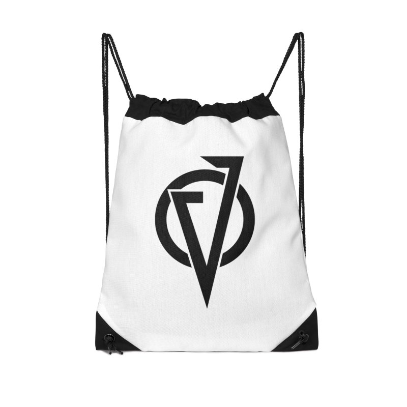 VATTICA LOGO (BLACK V) Accessories Drawstring Bag Bag by VATTICA | OFFICIAL MERCH