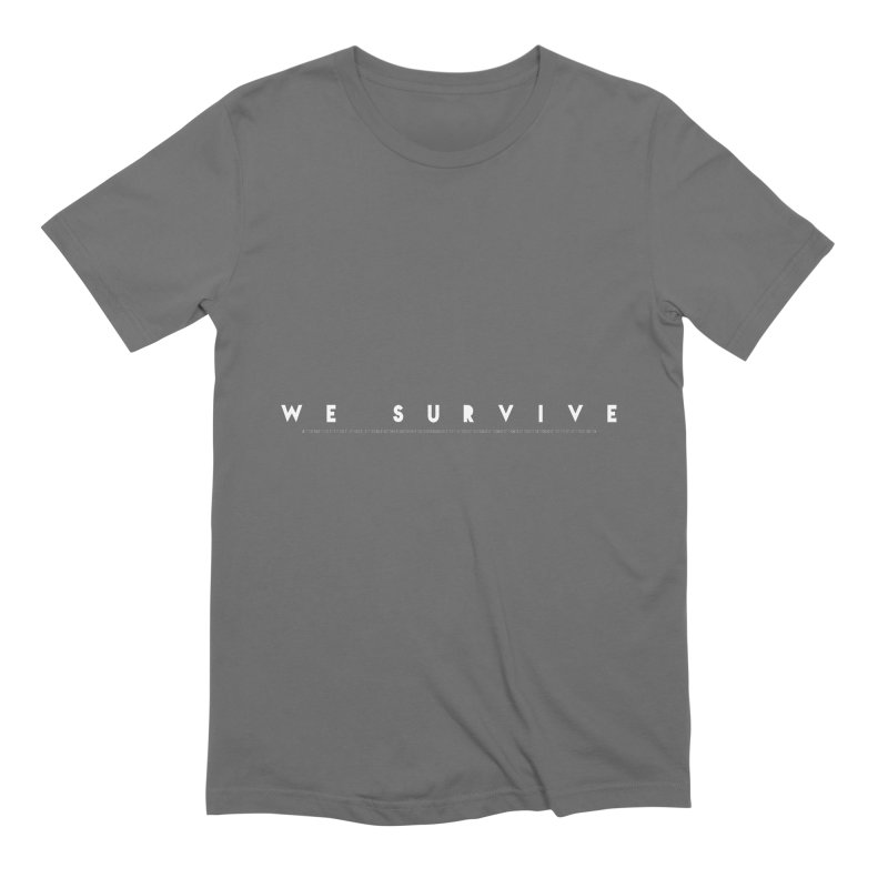 WE SURVIVE (Binary Code) in Men's Extra Soft T-Shirt Asphalt by VATTICA | OFFICIAL MERCH