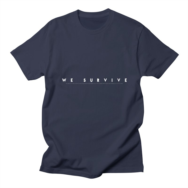 WE SURVIVE (Binary Code) Men's Regular T-Shirt by VATTICA | OFFICIAL MERCH
