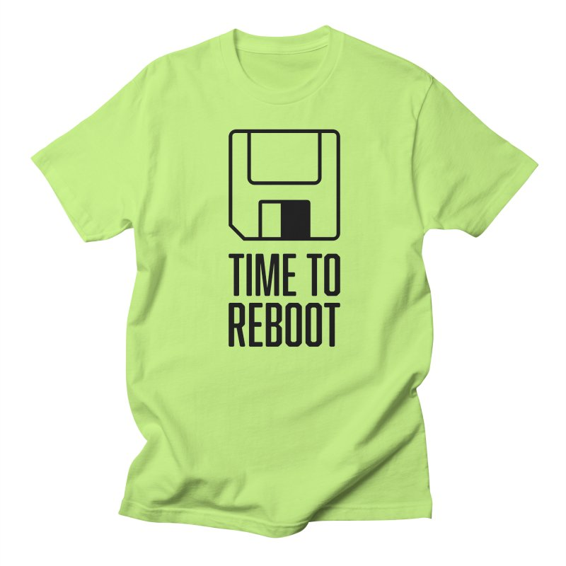Time to Reboot Men's T-shirt by Vain & Virtue