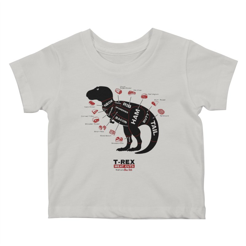 T-Rex Meat Cuts Kids Baby T-Shirt by Victor Calahan