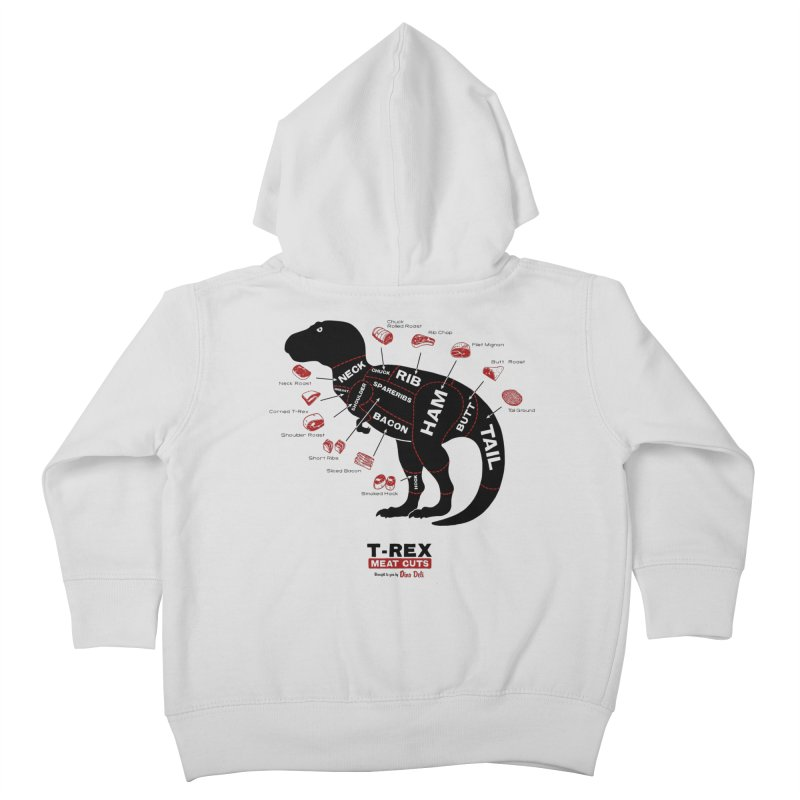 T-Rex Meat Cuts Kids Toddler Zip-Up Hoody by Victor Calahan