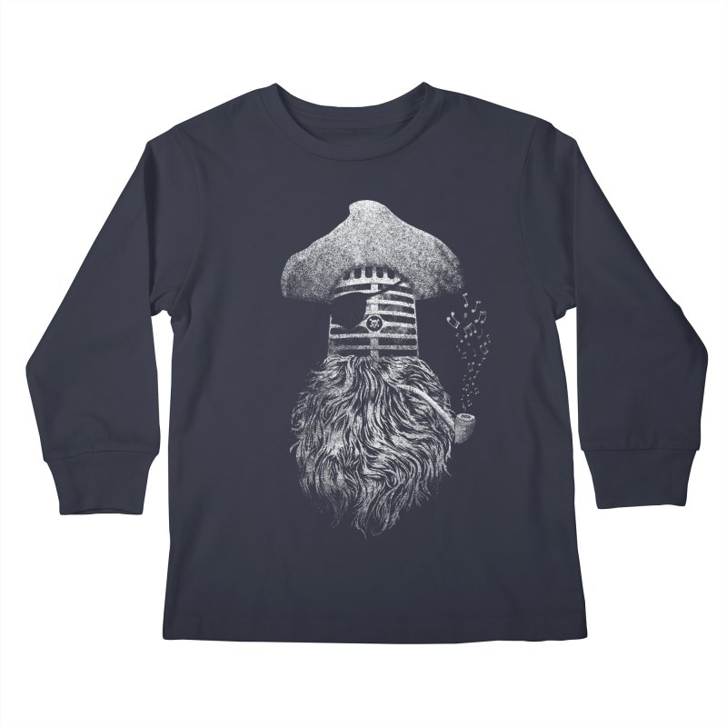 Pirate Music Kids Longsleeve T-Shirt by Victor Calahan