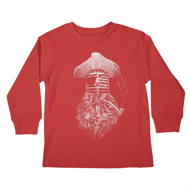 Pirate Music Kids Longsleeve T-Shirt by Victor Calahan