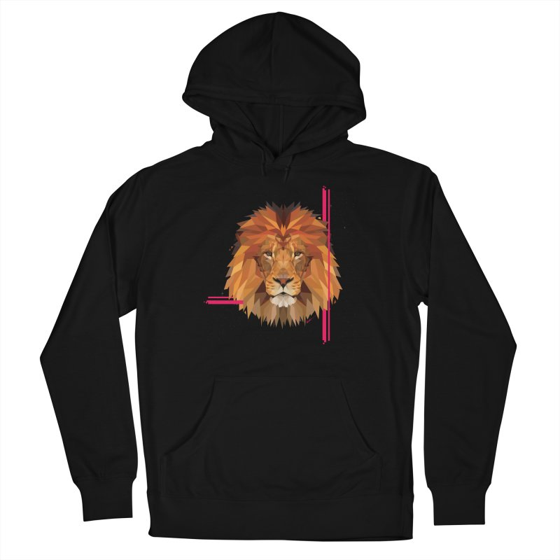 Polygonal space lion Women's Pullover Hoody by V Design's Artist Shop